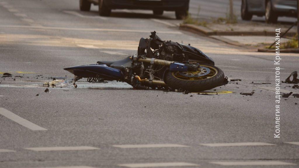 ДТП и мотоцикл